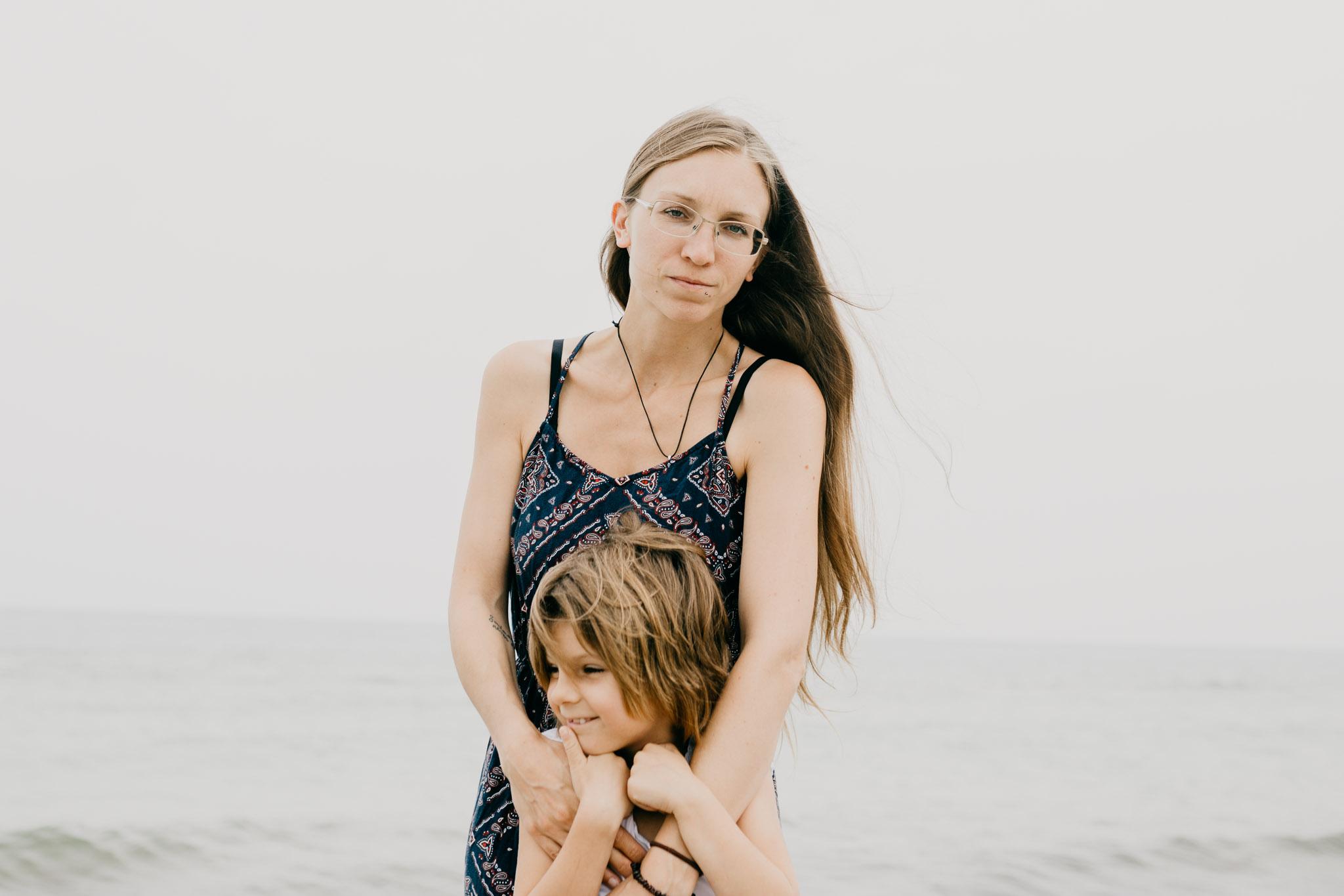Meine Tochter und ich am Ostseestrand Dierhagen