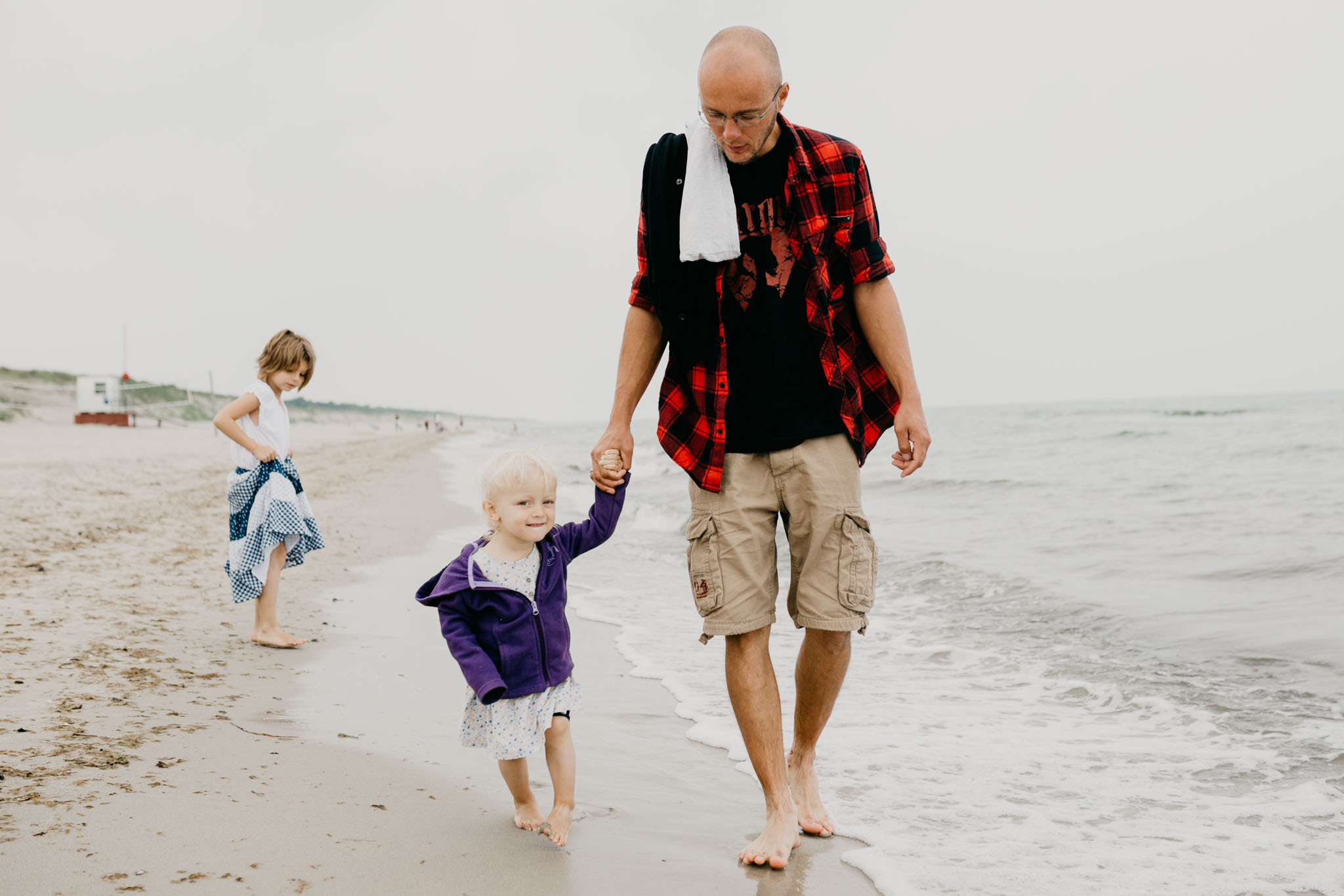 Meine Familie am Ostseestrand Dierhagen