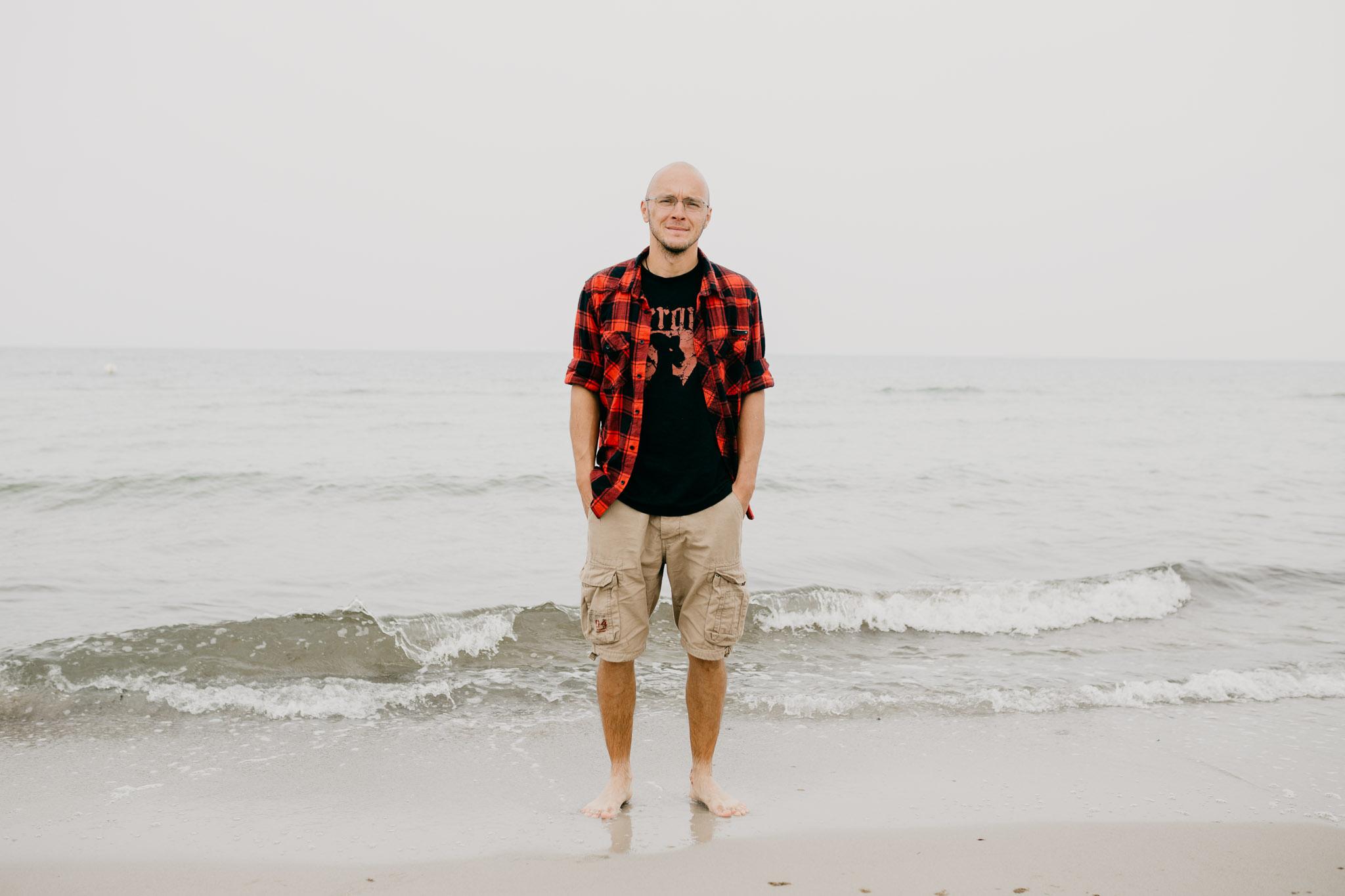 Mein Ehemann Patrick Scheffler am Ostseestrand Dierhagen